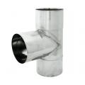 Trójnik 90° żaroodporny SPIROFLEX Ø 130mm gr.1,0mm