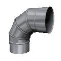 Kolano 90° skrętne żaroodporne MKSZ Invest MK ŻARY Ø 160mm gr.0,8mm
