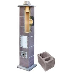 System Kominowy Ceramiczny LEIER Izolowany Ø 160mm z wentylacją