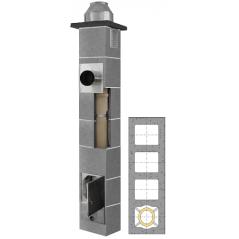 System Kominowy Ceramiczny  JAWAR K Ø  80mm z wentylacją 3-kanałową