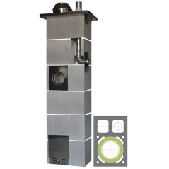 System Kominowy Ceramiczny  JAWAR Kompakt Ø 160mm + 80mm z wentylacją rura izostatyczna