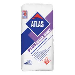 Elastyczny, biały klej do płytek gresowych ATLAS PLUS MEGA BIAŁY, 25 kg