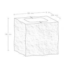 CJBLOK Pustak betonowy elewacyjny PBE-19-2 N1/2 trzystronnie łupany, 2 image