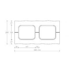 CJBLOK Pustak betonowy elewacyjny PBE-19-2 dwustronnie łupany, 3 image