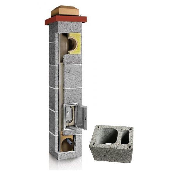 System Kominowy Ceramiczny PLEWA Uni Fu 160x160mm z wentylacją