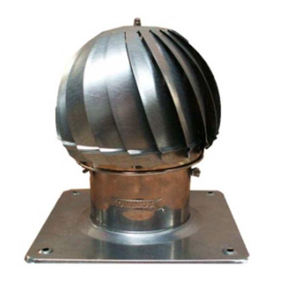 Nasada Turbomax 1 SREBRNY Ø 200mm z podstawą rurową ocynk
