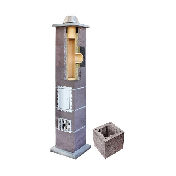 System Kominowy Ceramiczny LEIER Izolowany Ø 180mm