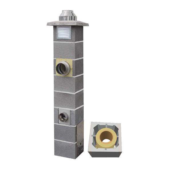 System Kominowy Ceramiczny  JAWAR Nord Ø 160mm rura izostatyczna