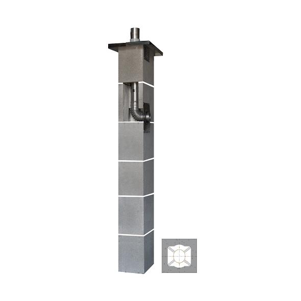 System Kominowy Stalowy JAWAR KS Ø  80mm
