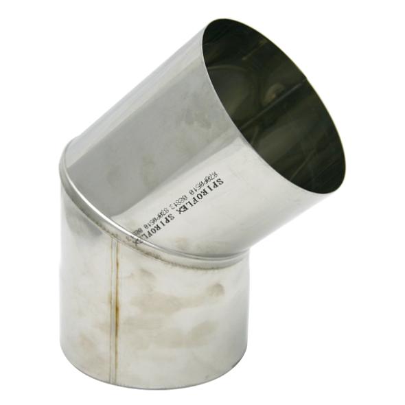 Kolano stałe 45° żaroodporne SPIROFLEX Ø 150mm gr.1,0mm