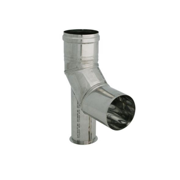 Kolano 90° z podstawką nierdzewne jednościenne Turbo SPIROFLEX Ø  60mm