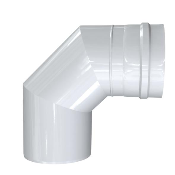 Kolano 93° dwuścienne MKPS Invest MK ŻARY Ø 100/150mm białe